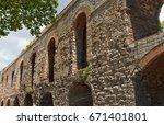 ancient walls of constantinople ... | Shutterstock . vector #671401801