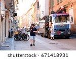 ferrara  italy   june  30  2017 ...   Shutterstock . vector #671418931