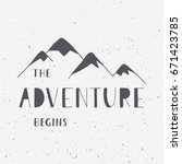 the adventure begins.... | Shutterstock .eps vector #671423785