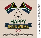 nelson mandela greeting card or ... | Shutterstock .eps vector #671424085