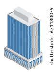 3d isometric of tall business... | Shutterstock .eps vector #671430079