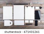 photo of branding identity mock ...   Shutterstock . vector #671431261