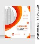 annual report  brochure  flyer  ... | Shutterstock .eps vector #671432635