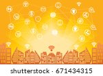 internet connectivity network... | Shutterstock .eps vector #671434315