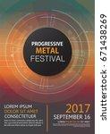 progressive metal festival... | Shutterstock .eps vector #671438269