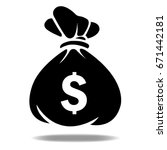 money bag icon | Shutterstock .eps vector #671442181