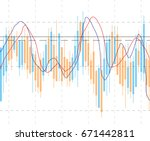 abstract business chart with... | Shutterstock .eps vector #671442811