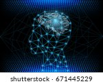 abstract digital and technology ...   Shutterstock .eps vector #671445229