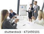 business people team at... | Shutterstock . vector #671450101