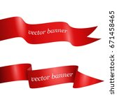 red ribbon banner set  isolated ... | Shutterstock .eps vector #671458465
