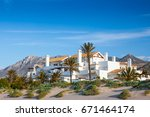 a luxury apartment and villa... | Shutterstock . vector #671464174
