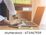 business man working at office...   Shutterstock . vector #671467939