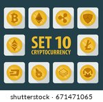 set of 10 flat currency...