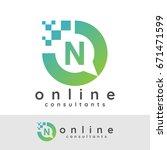 online consultants initial... | Shutterstock .eps vector #671471599