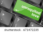 unrequited love on key or... | Shutterstock . vector #671472235