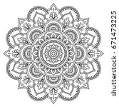 circular pattern in form of... | Shutterstock .eps vector #671473225