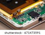 smartphone motherboard... | Shutterstock . vector #671473591