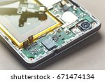smartphone disassembly... | Shutterstock . vector #671474134
