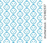 pattern background baby face... | Shutterstock .eps vector #671482537