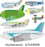 cargo  passenger and fighter... | Shutterstock . vector #67149898