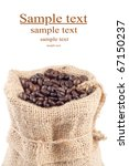 coffee beans in canvas sack on... | Shutterstock . vector #67150237