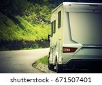 camper camping vacation.... | Shutterstock . vector #671507401