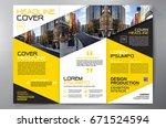 business brochure. flyer design.... | Shutterstock .eps vector #671524594