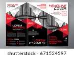 business brochure. flyer design.... | Shutterstock .eps vector #671524597