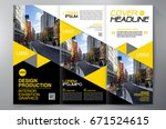 business brochure. flyer design.... | Shutterstock .eps vector #671524615
