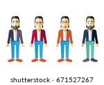 men vector flat design | Shutterstock .eps vector #671527267