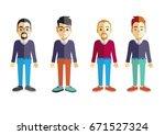 men vector flat design | Shutterstock .eps vector #671527324