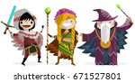 role fantasy characters | Shutterstock .eps vector #671527801