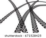 tire tracks    Shutterstock . vector #671528425