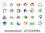 people  community  creative hub ... | Shutterstock .eps vector #671533981
