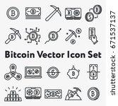 set of thin line stroke vector... | Shutterstock .eps vector #671537137