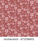 floral seamless pattern  ... | Shutterstock .eps vector #671538601