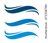 Blue Waves Swoosh Logo Template
