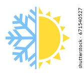 winter and summer icon. vector...   Shutterstock .eps vector #671540527