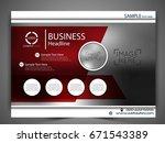 vector business flyer.   Shutterstock .eps vector #671543389