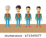 men colorful vector flat design   Shutterstock .eps vector #671545477