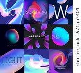 abstract liquid color design... | Shutterstock .eps vector #671552401