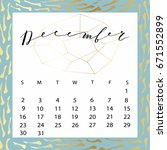 vector calendar for december... | Shutterstock .eps vector #671552899