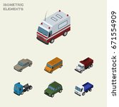isometric transport set of... | Shutterstock .eps vector #671554909