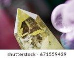 macro shot of citrine stone and ...   Shutterstock . vector #671559439