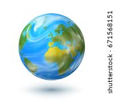 planet earth globe isolated on... | Shutterstock . vector #671568151