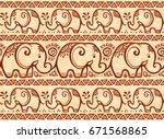henna tattoo mehndi style tiny... | Shutterstock . vector #671568865