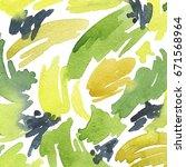 watercolor hand painted... | Shutterstock . vector #671568964