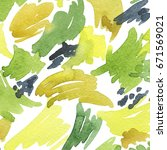 watercolor hand painted... | Shutterstock . vector #671569021