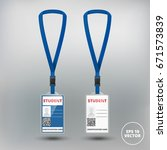 id card student with lanyard...