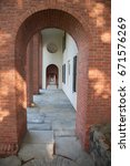 Small photo of Arched passageway made of brick and slate